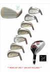 AGXGOLF STIFF MEN'S TOUR EAGLE SERIES IRON SET: w/ 3 HYBRID+5,6,7,8,9 IRONS+PW: ALL SIZES